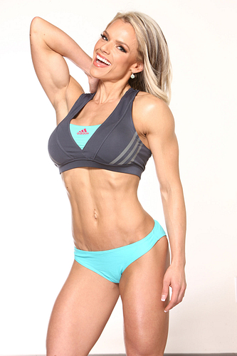 Aleisha in the Fitness Magazine shoot.
