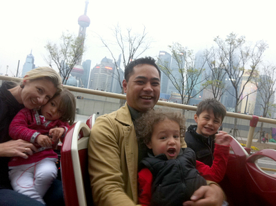 Katrina's family in Shanghai. I haven't had so much opportunity to enjoy family time and travel various places. }}