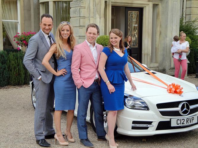 Stuart with his SuccessLine: ENVP Iain Pritchard, NVP Sarah Dunning and ERVP Claire Fishenden.