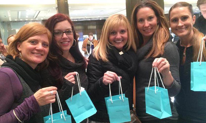 NYC with Ginger McKenzie, Donna Urice, Tracy Schuetz, and Mindy Prete.