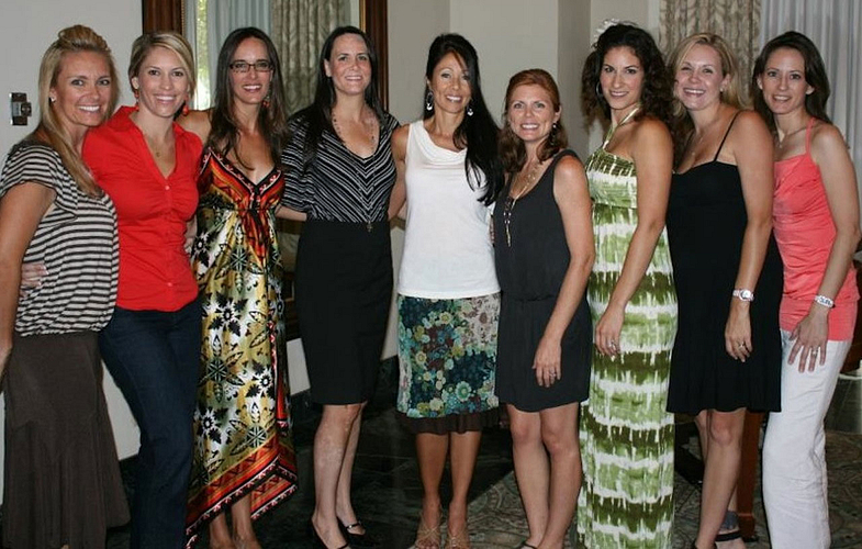 Audra with several of her VPs and Managers at an Arbonne luncheon.
