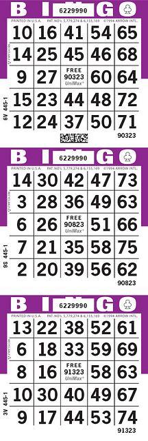 UniMax 3V Purple CMYK Bingo Paper/UniMax Cuts/3V Cuts