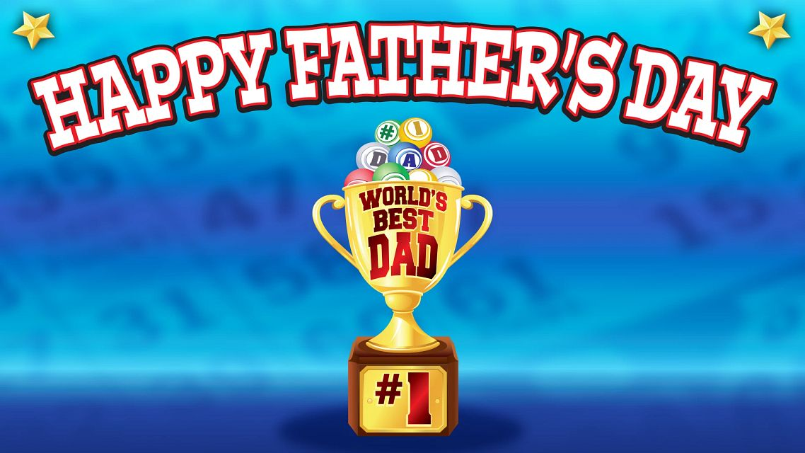 Happy Fathers Day Bingo Equipment/Flashboards/MaxFlash>Promotional Materials/Advertisements