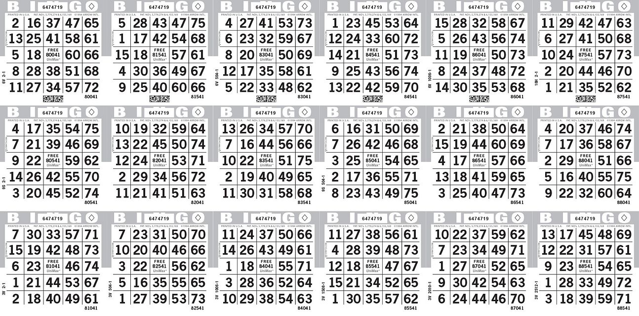 UniMax 18H Gray CMYK Bingo Paper/UniMax Cuts/18H Cuts