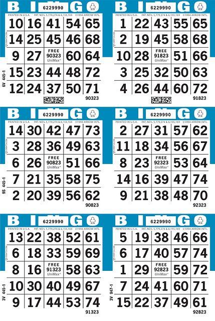 UniMax 6V2 Blue CMYK Bingo Paper/UniMax Cuts/6H Cuts