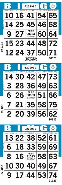 UniMax 3V1 Blue CMYK Bingo Paper/UniMax Cuts/3V Cuts
