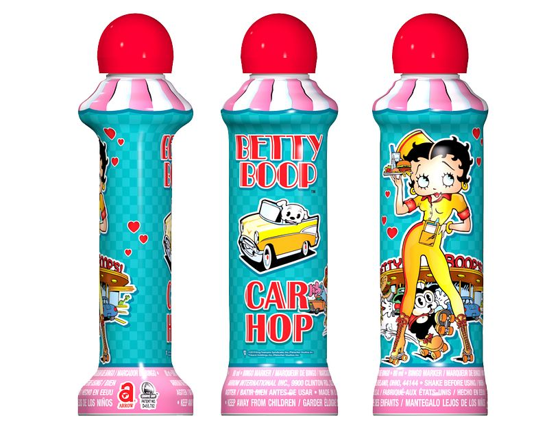 Betty Boop Car Hop Bingo Ink/Licensed