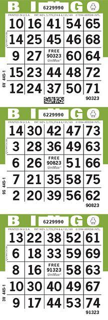 UniMax 3V Olive CMYK Bingo Paper/UniMax Cuts/3V Cuts