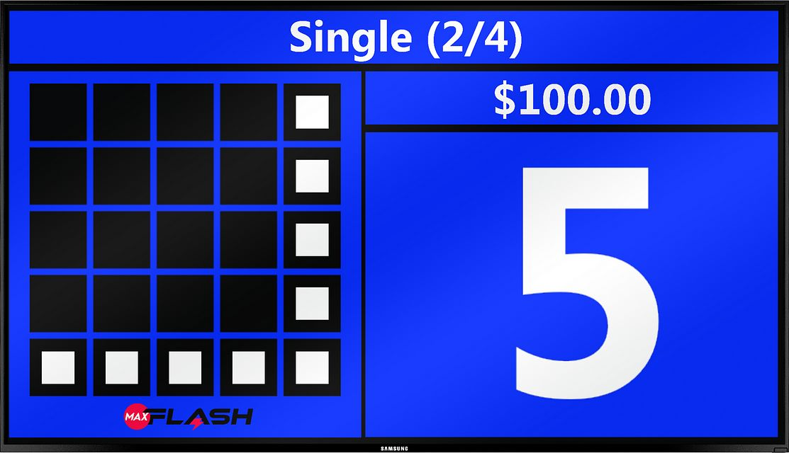 basic large ball count graphic BINGO EQUIPMENT/Flashboards