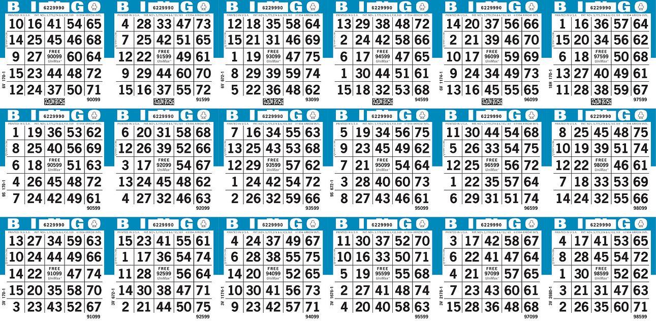 UniMax 18H6 Blue CMYK Bingo Paper/UniMax Cuts/18H Cuts
