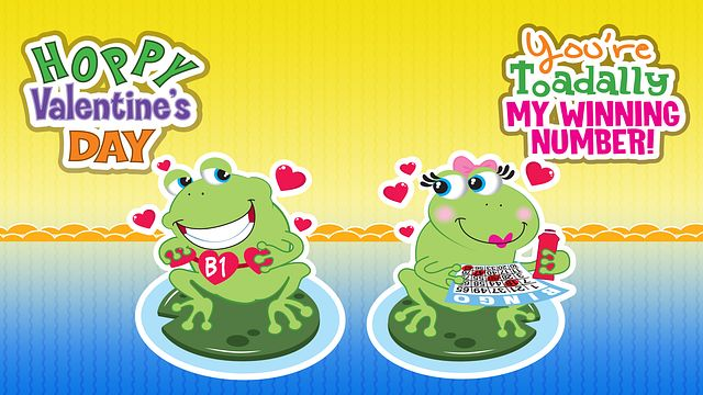 Valentine's Day Frogs Bingo Equipment/Flashboards/MaxFlash>Promotional Materials/Advertisements