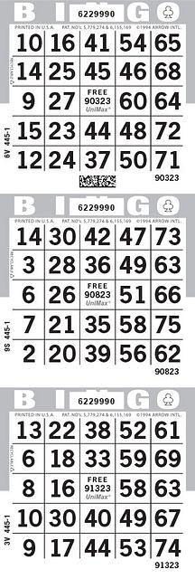 UniMax 3V Gray CMYK Bingo Paper/UniMax Cuts/3V Cuts