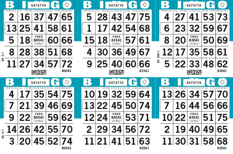 UniMax 6H Blue CMYK Bingo Paper/UniMax Cuts/6H Cuts
