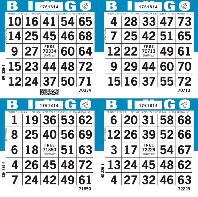 UniMax 4S2 Blue CMYK Bingo Paper/UniMax Cuts/4S Cuts
