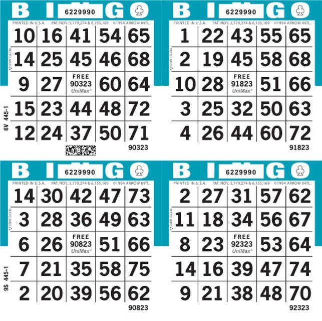 UniMax 4S Blue CMYK Bingo Paper/UniMax Cuts/4S Cuts