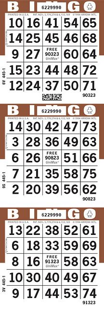 UniMax 3V Brown CMYK Bingo Paper/UniMax Cuts/3V Cuts
