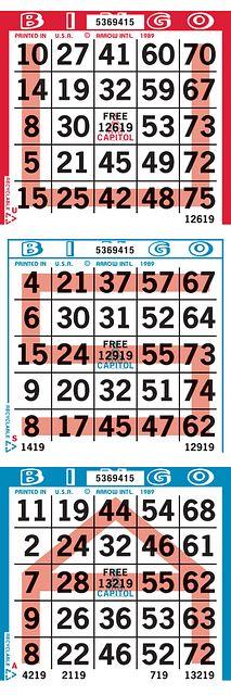 USA 3V1 Capitol Bingo Paper Bingo Paper/Capitol Cuts/Specialty & Novelty