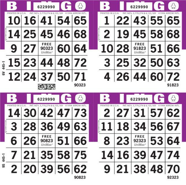 UniMax 4S Purple CMYK Bingo Paper/UniMax Cuts/4S Cuts