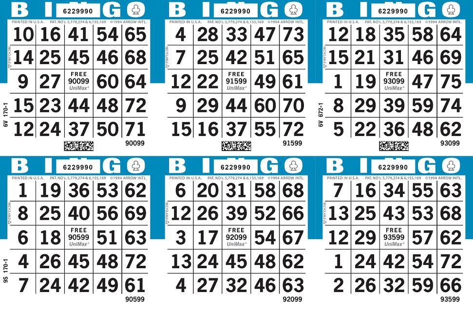UniMax 6H3 Blue CMYK Bingo Paper/UniMax Cuts/6H Cuts