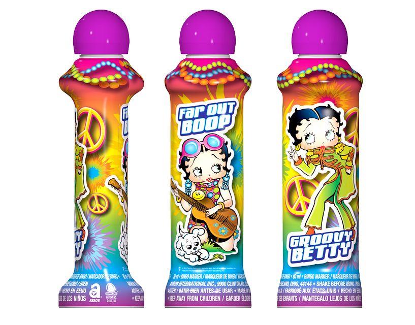 Groovy Betty Boop PURPLE Bingo Ink/Licensed