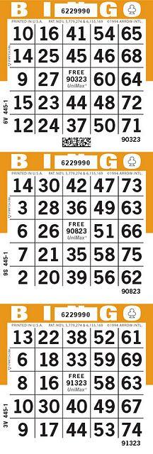 UniMax 3V Orange CMYK Bingo Paper/UniMax Cuts/3V Cuts