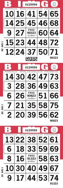 UniMax 3V Red CMYK Bingo Paper/UniMax Cuts/3V Cuts