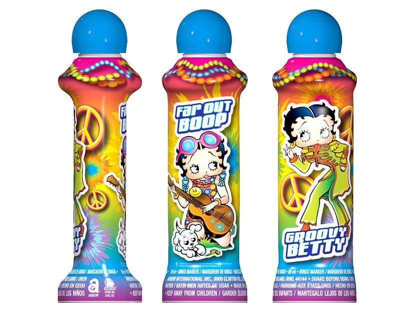 Groovy Betty Boop BLUE Bingo Ink/Licensed