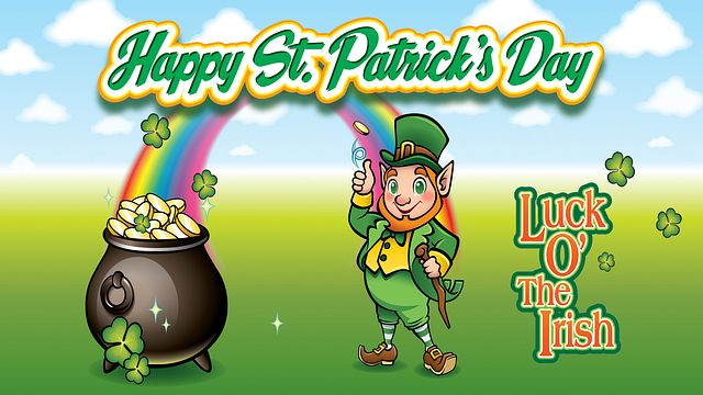 Happy St Patricks Day Bingo Equipment/Flashboards/MaxFlash>Promotional Materials/Advertisements