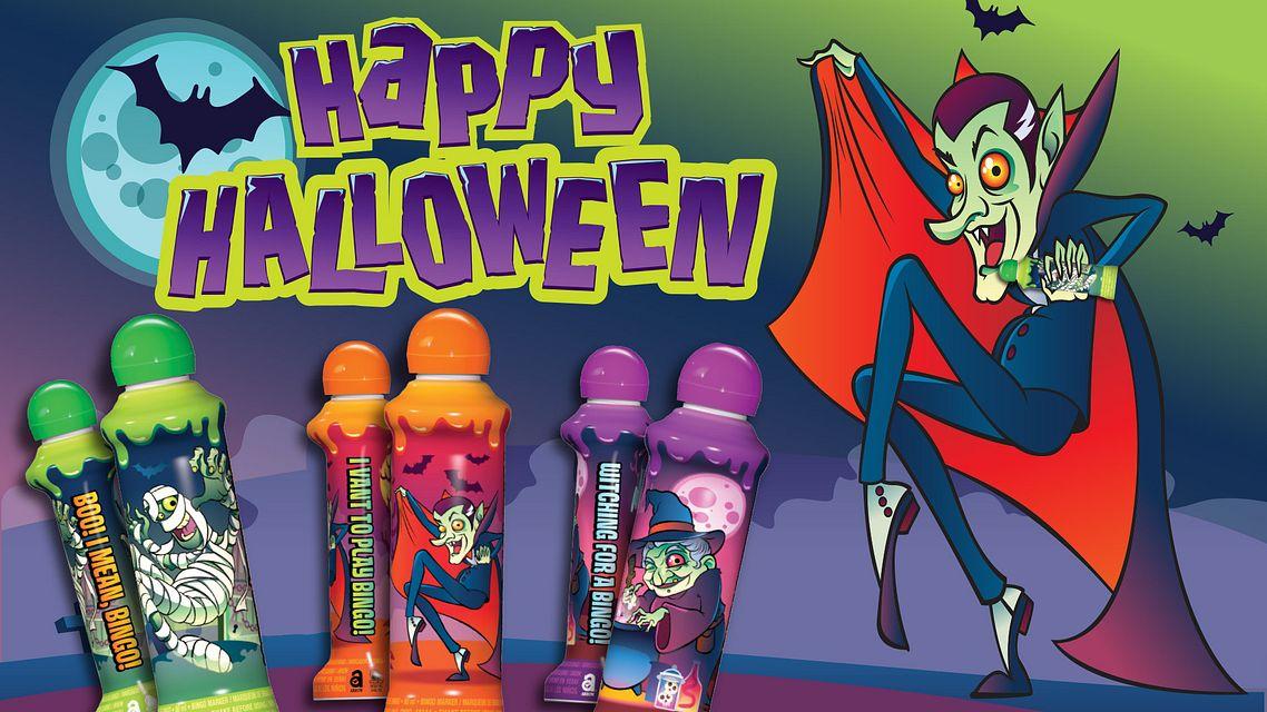 Halloween Ink Vampire Maxflash Ad Bingo Equipment/Flashboards/MaxFlash>Promotional Materials/Advertisements