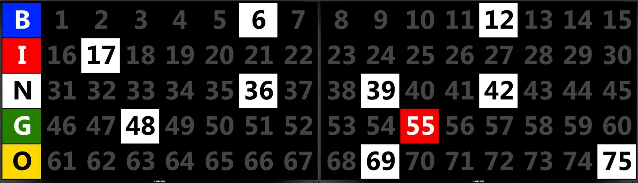 double screen BINGO EQUIPMENT/Flashboards
