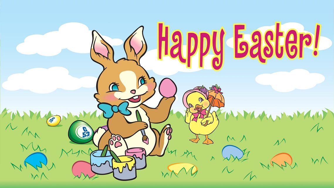 Happy Easter Bingo Equipment/Flashboards/MaxFlash>Promotional Materials/Advertisements
