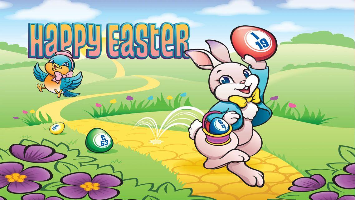 Happy Easter Rabbit Bingo Equipment/Flashboards/MaxFlash>Promotional Materials/Advertisements