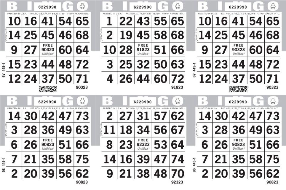 UniMax 6H Gray CMYK Bingo Paper/UniMax Cuts/6H Cuts