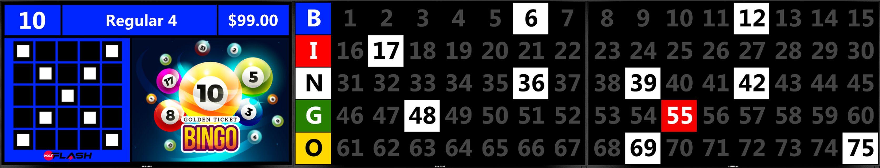 Triple Screen MaxFlash BINGO EQUIPMENT/Flashboards
