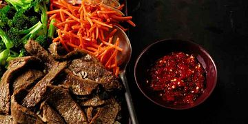 Bibimbap-Style Korean-Marinated Flank Steak