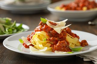 Beef Bolognese with Fresh Egg Pappardelle