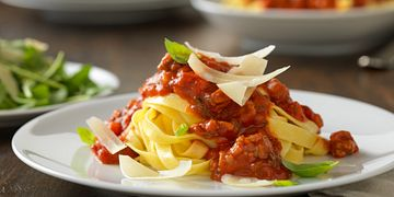 Beef Bolognese with Fresh Egg Pappardelle Pasta