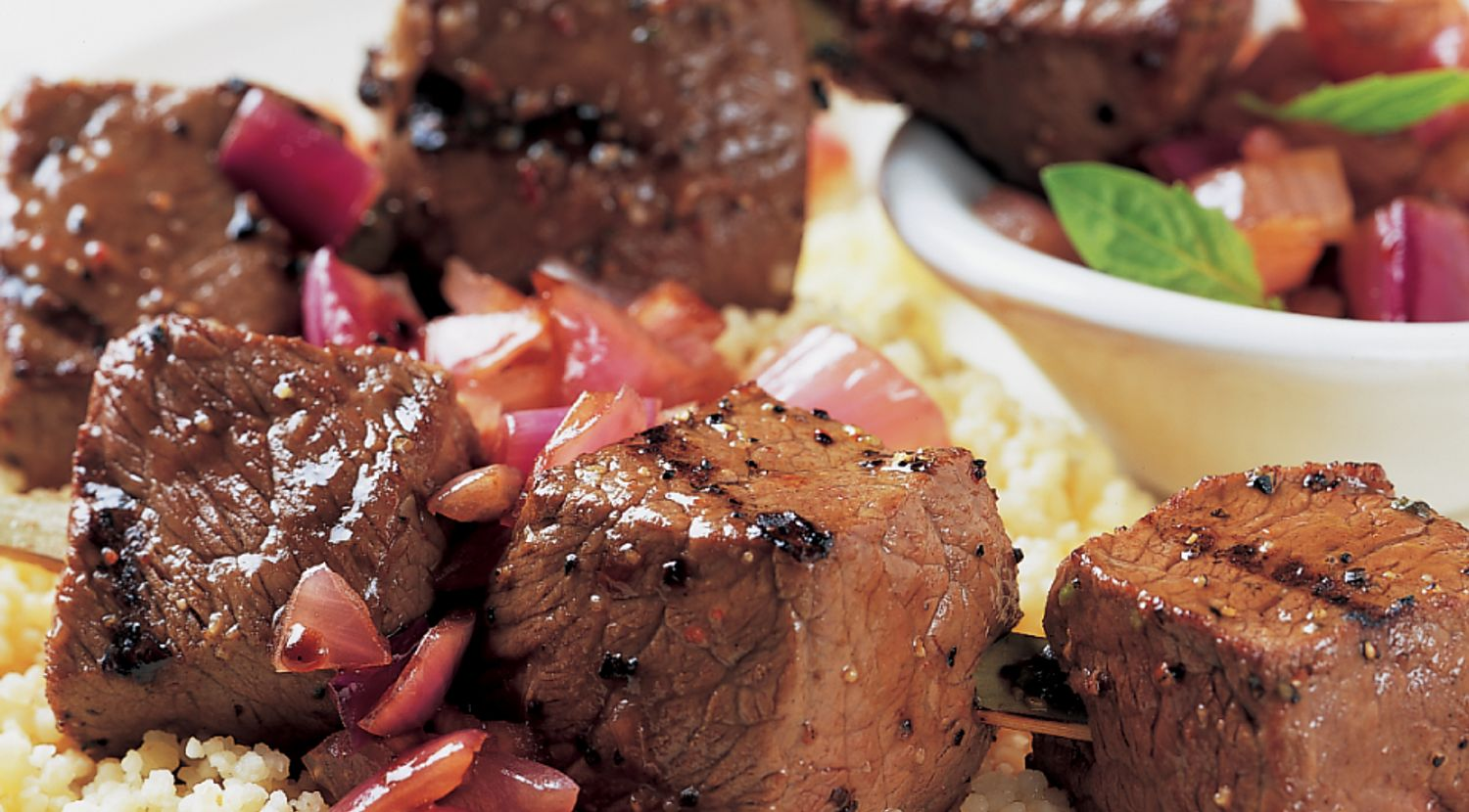 Steak Kabobs with Caramelized Onion Relish