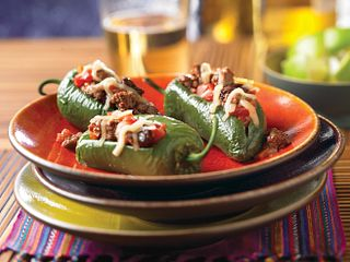 Picadillo-Stuffed Jalapeno Peppers