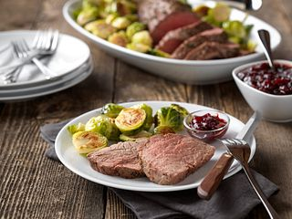Classic Beef Tenderloin with Cranberry Drizzle