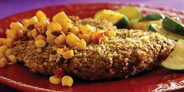 Mexican-Style Milanesa with Smoky Corn Relish