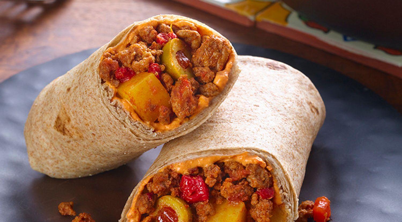 Simple Spanish Beef & Potato Wraps
