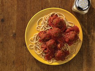 Baked Mighty Mini Meatballs Pasta
