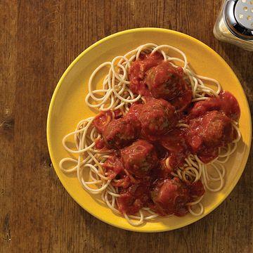 Baked Mighty Mini Meatballs Pasta