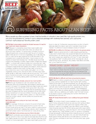 Surprising Facts about lean beef