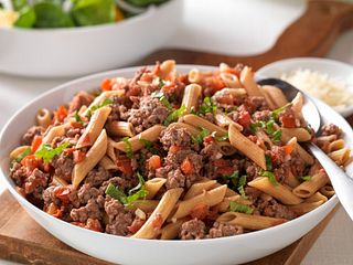 Fresh Tomato, Beef and Penne Pasta