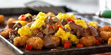 "Southwestern Beef Breakfast ""Nachos"""