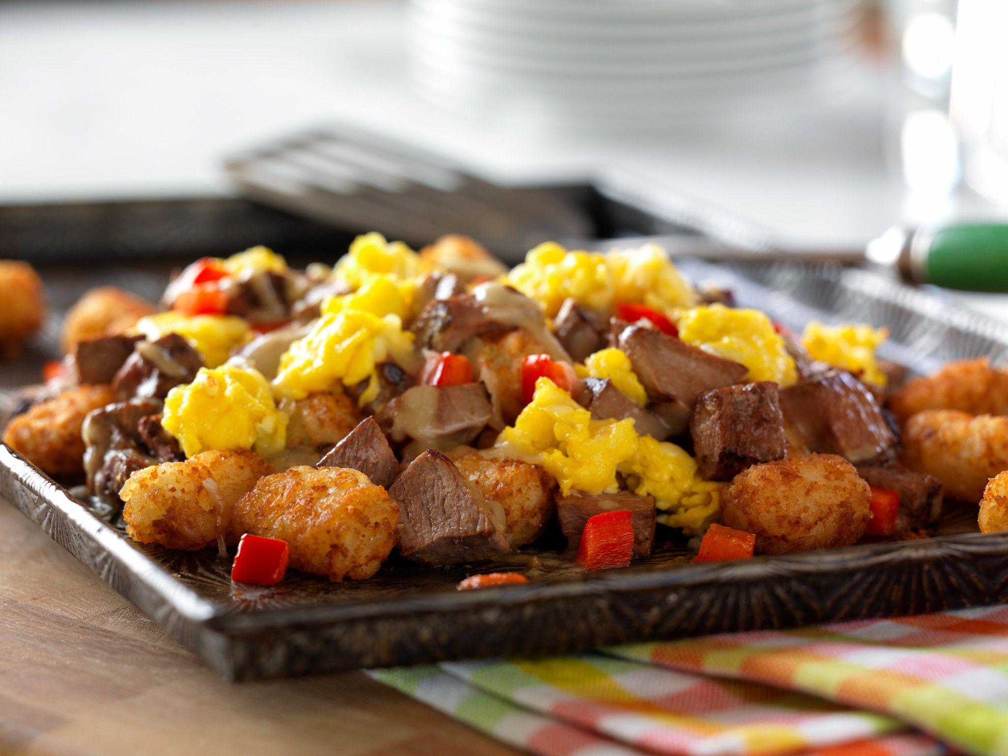 Mexican Beef Breakfast Nachos