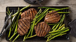 Balsamic Marinated Beef Top Sirloin Steak & Asparagus