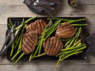 Balsamic Marinated Beef Top Sirloin Steak & Asparagus